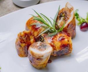 Chicken Roulade with Creamy Tomato Sauce Recipe