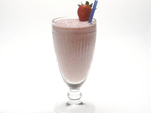sweet chocolate strawberry banana milkshake