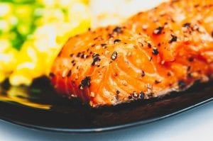 Citrus Glazed Salmon with Pecan-Citrus Rice Recipe