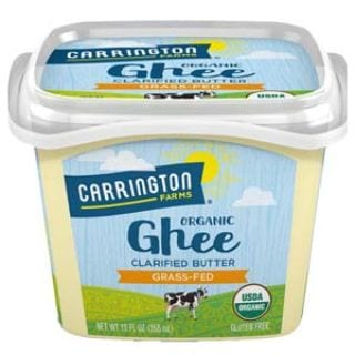 USDA Organic Grass Fed Ghee, 12oz, Compare our cost per oz and Certified Organic, Carrington Farms