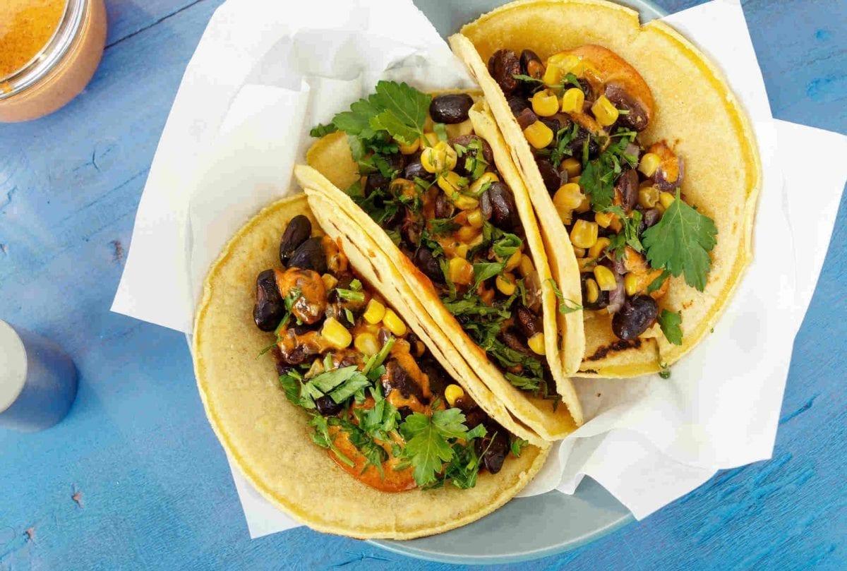 corn bean tacos
