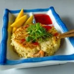 lot of spices crab cake