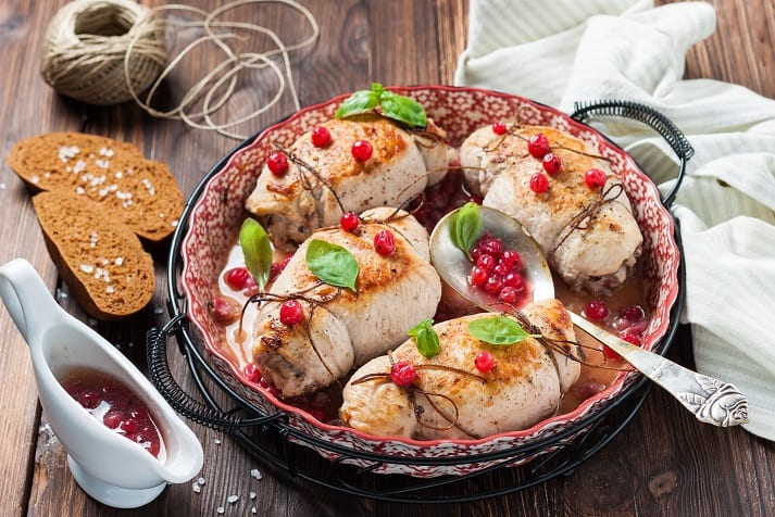 Cranberry And Brie Stuffed Chicken Breasts