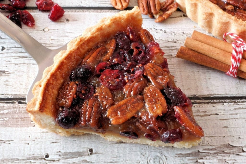 Cranberry Pecan Pie with Cornmeal Crust Recipe