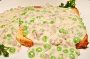 Creamed Peas on Toast Recipe