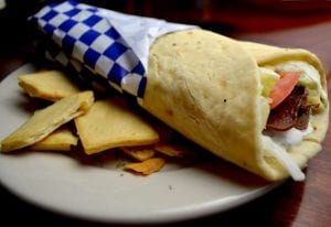 Creamy Chicken Strips Wrap Recipe