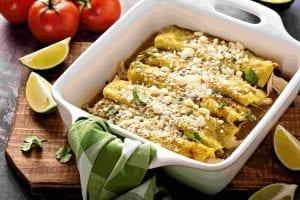Creamy Crockpot Chicken Enchiladas Recipe