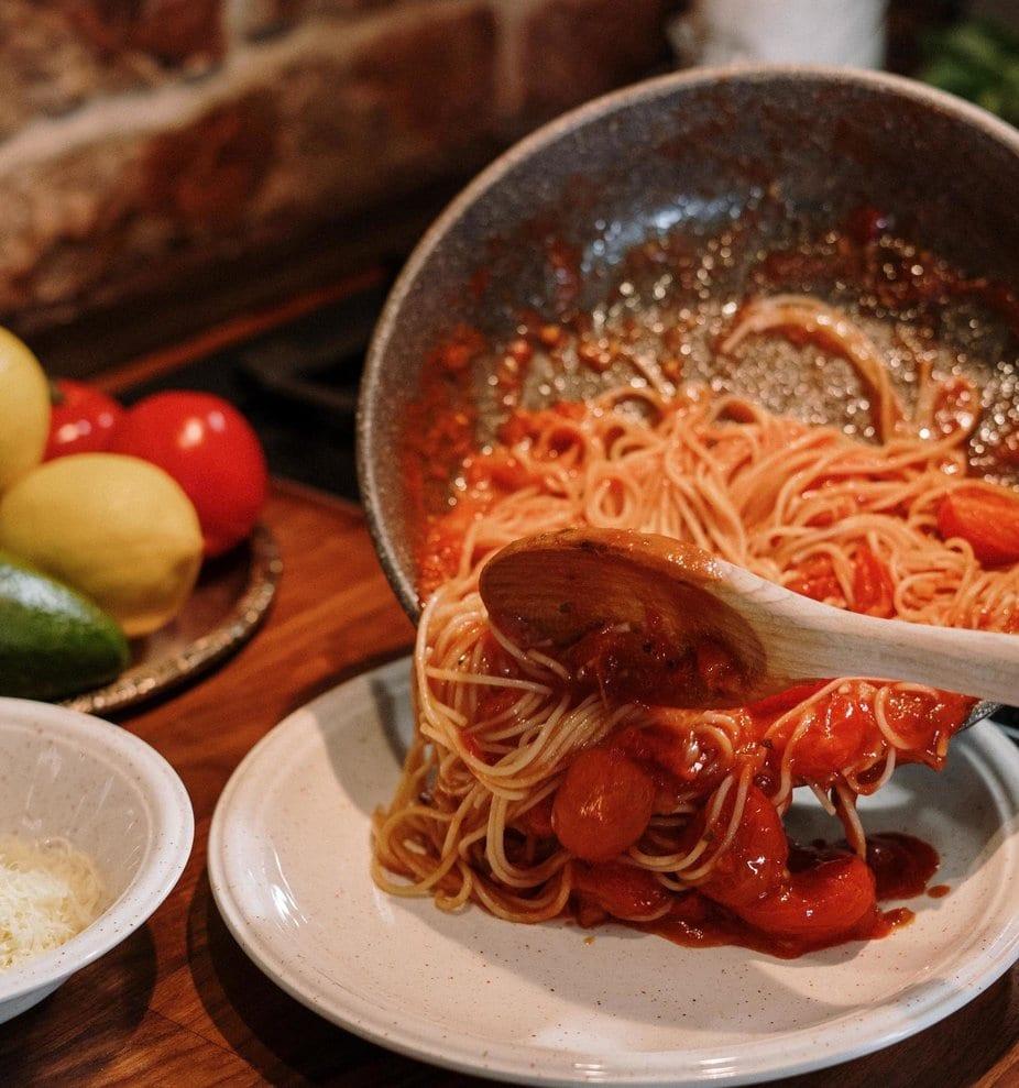 Creamy Ham And Tomato Pasta For Two Recipe