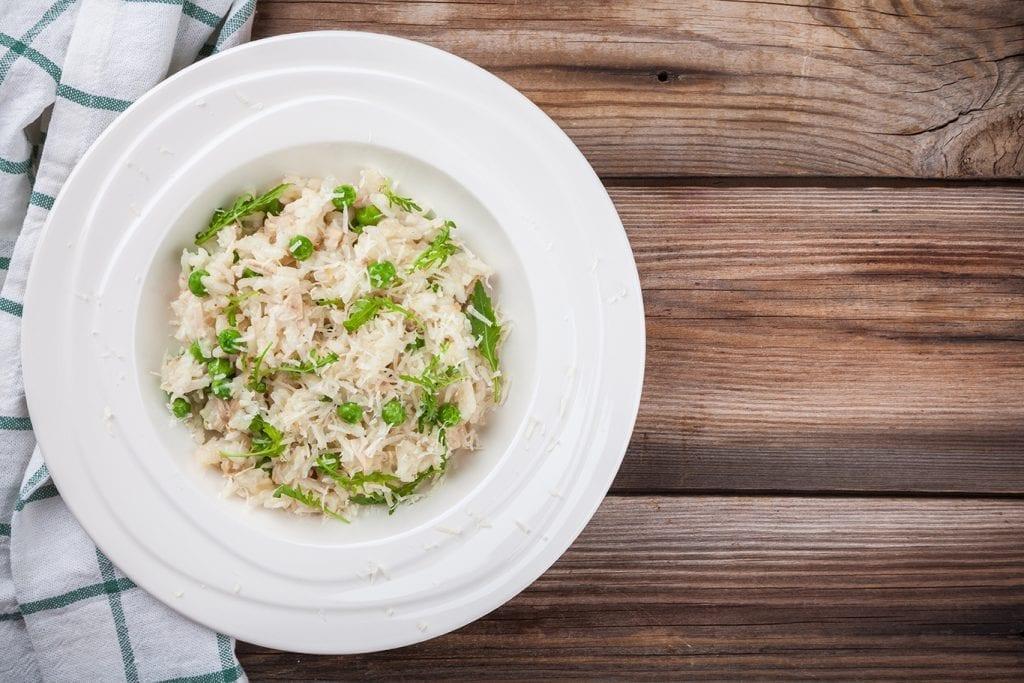 creamy risotto with arugula
