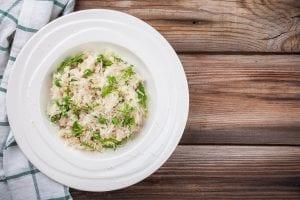 Creamy Risotto with Arugula and Peas Recipe