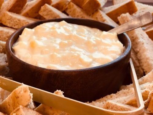 crockpot crispy kielbasa and cheese dip