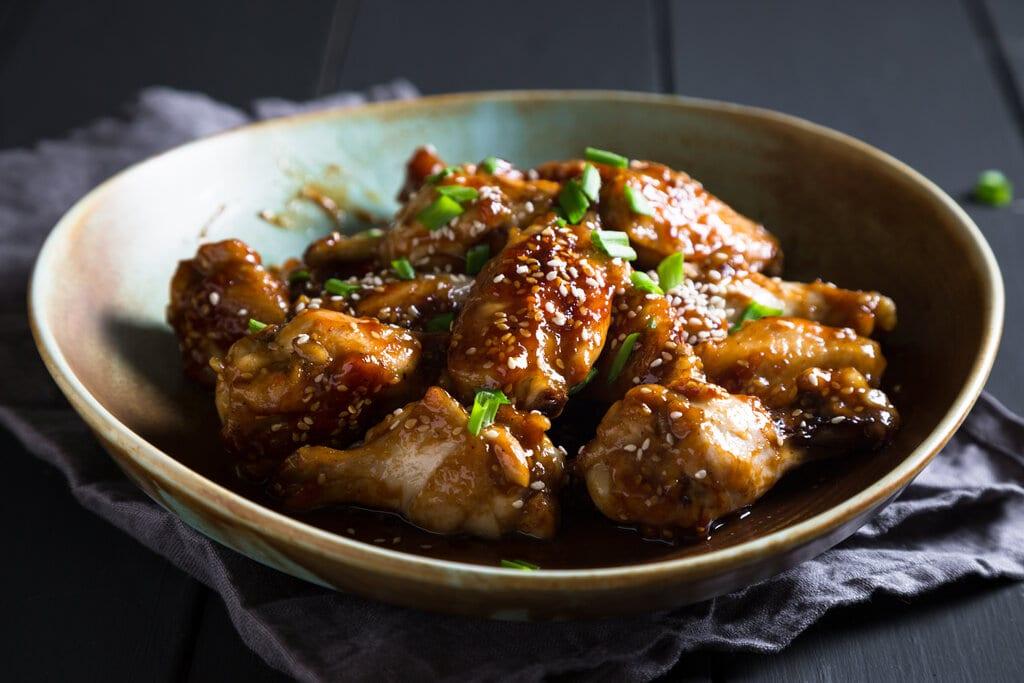 Crockpot Teriyaki Wings Recipe, easy wings recipe with homemade teriyaki sauce