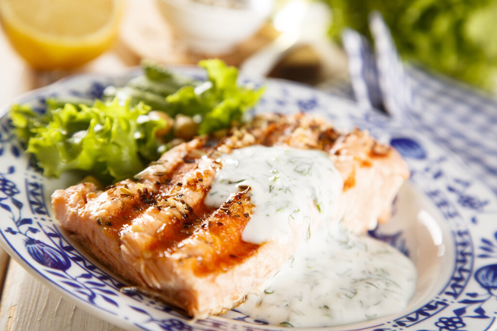 Dill Sauce Recipe, how to make dill sauce, dill sauce for salmon