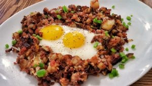 Diner Style Corned Beef Hash Recipe
