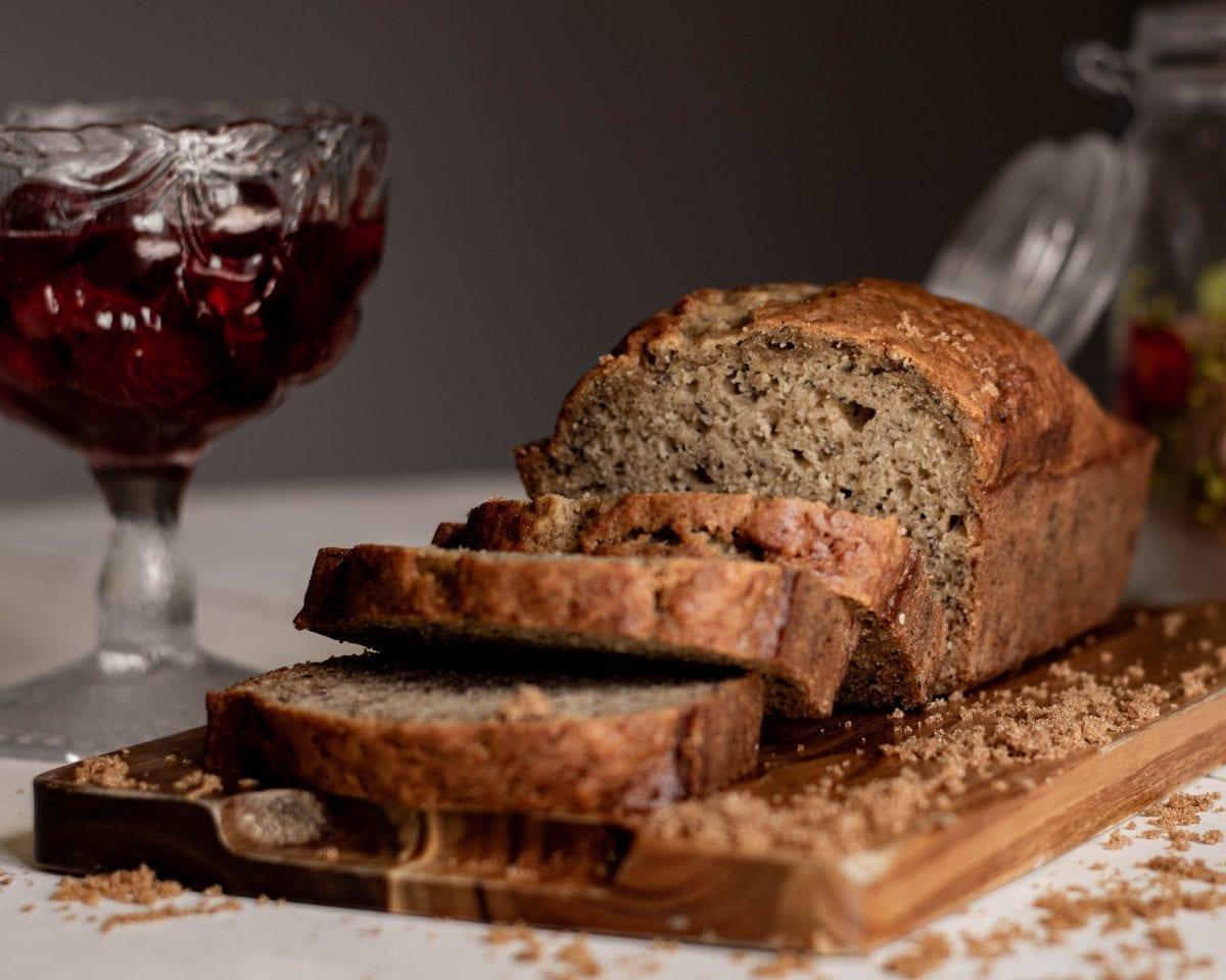 Peach Bread Recipe - Soft and moist peach bread with cinnamon and nuts
