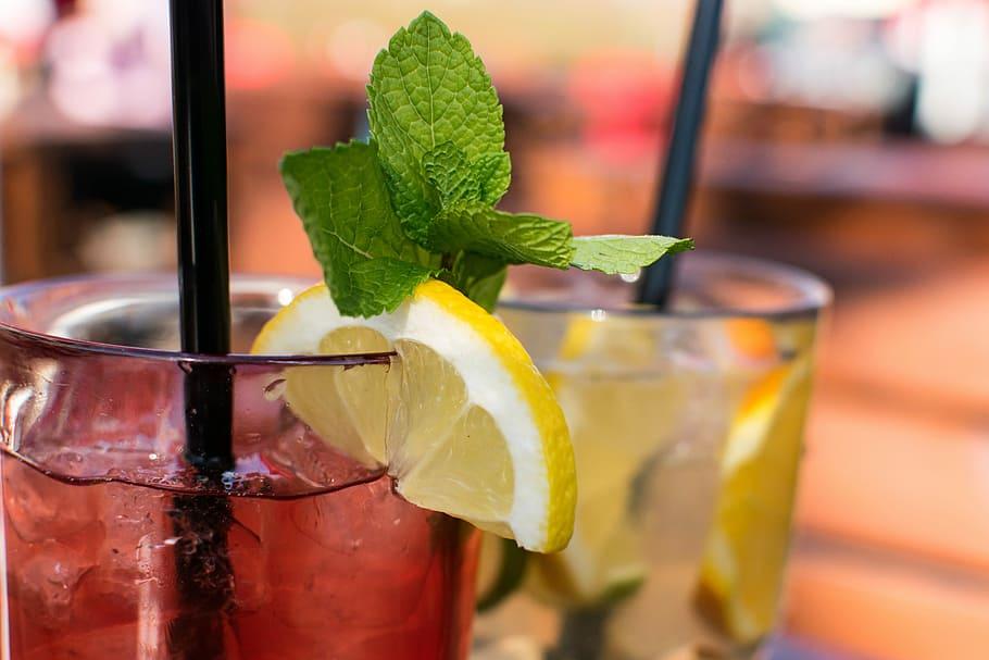 Fresh Lemonade with Raspberry Ice Cubes Recipe