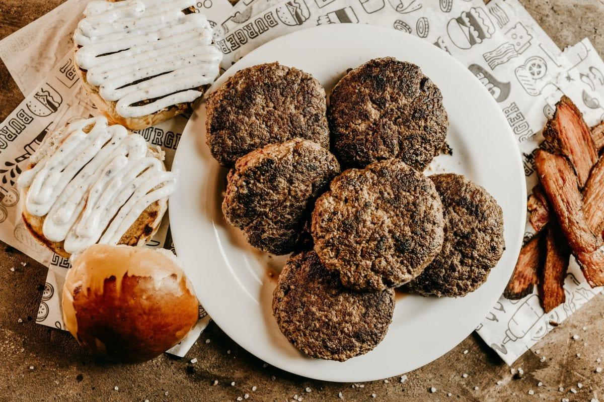 Frikadellen German Meat Cakes Recipe- german hamburgers, frikadeller, seasoned grilled ground beef and pork patties