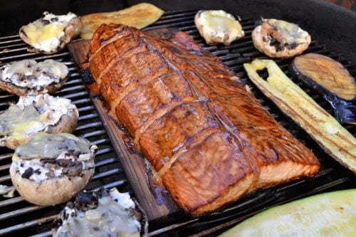crispy glazed salmon