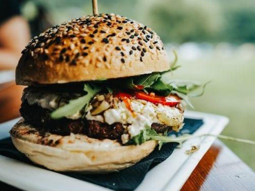 burger with tzatziki