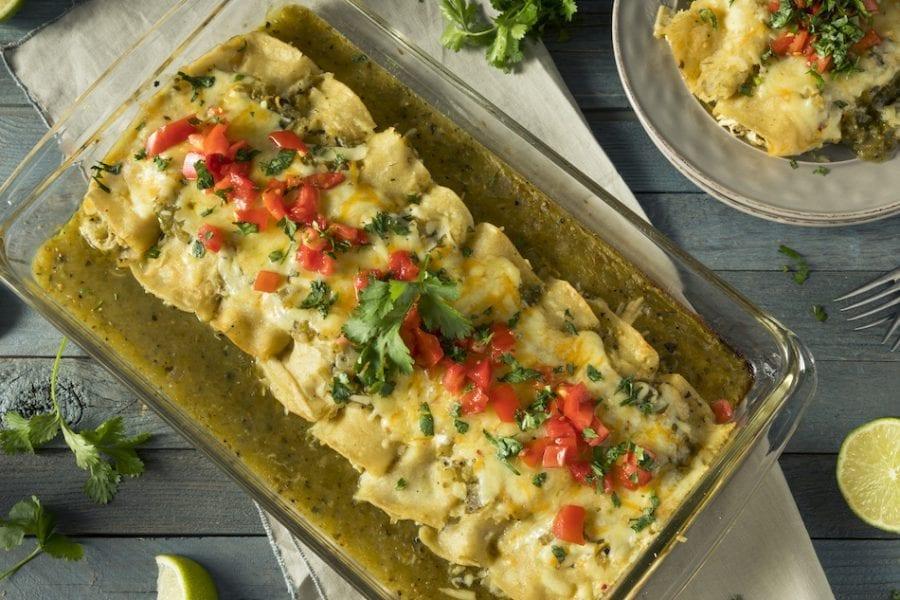 green chili enchilada casserole