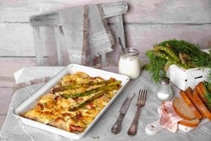 Ham and Asparagus Potato Casserole Recipe