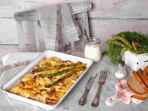 ham and asparagus potato casserole