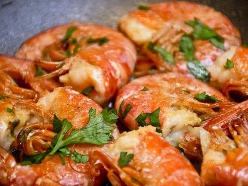 herb marinated shrimp