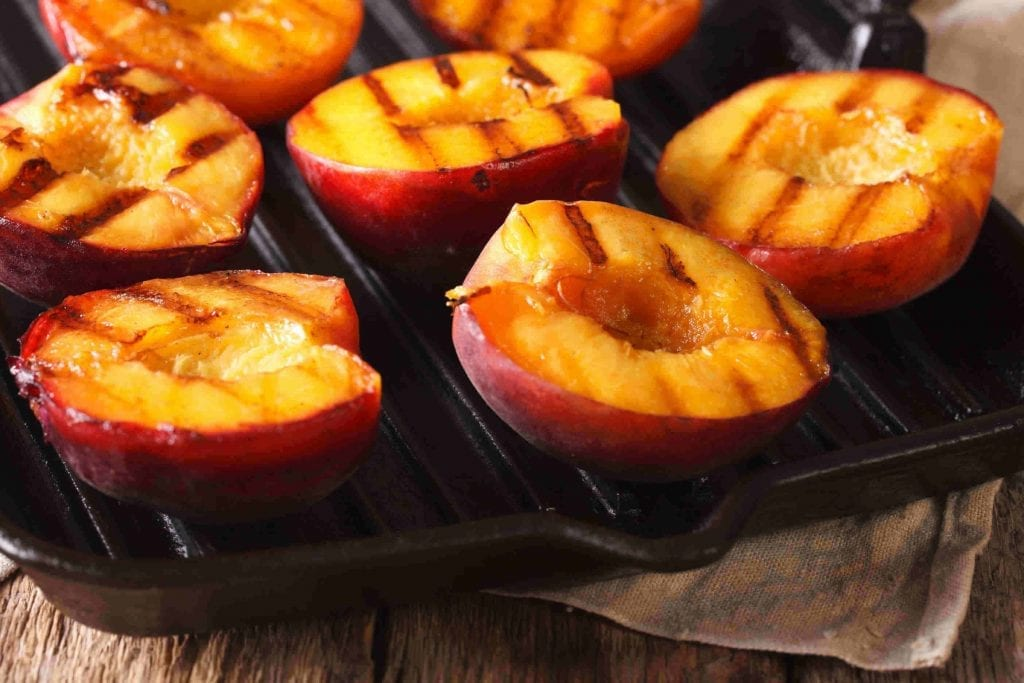Hickory Smoked Grilled Peaches Recipe