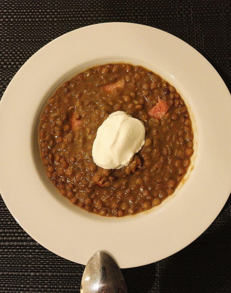 honey baked lentils