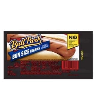 Ball Park Classic Franks, Bunsize Length