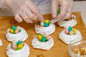 Jelly Bean-Studded Meringue Nests Recipe