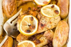 Lemon Chicken with Asian Rice Stuffing Recipe