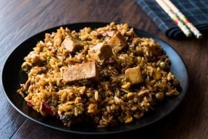 Lentils and Brown Rice with Tofu Recipe