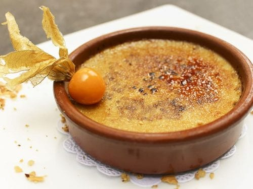 delicious maple creme brulee