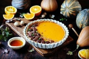 Mrs. Smith's Pumpkin Pie with Orange-Pecan Topping Recipe