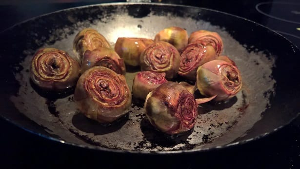 Oven-Braised Baby Artichokes with Lemon Aioli Recipe