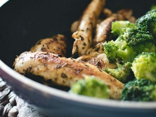pan fried salmon recipe with potatoes and broccoli