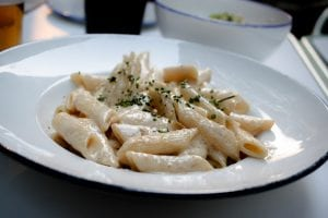 Pasta With Gorgonzola and Walnut Sauce Recipe
