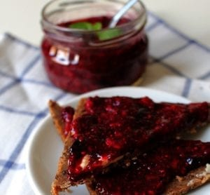 Peach Blueberry Blackberry Almond Jam Recipe