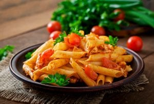 Penne Pasta with Marinara Sauce and Chicken Chunks Recipe
