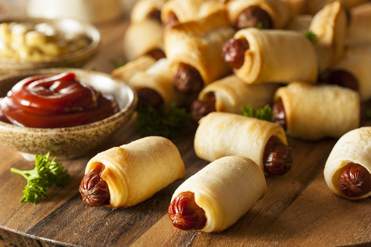 pigs in a phyllo blanket