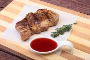 Pork Chops with Cranberry Balsamic Sauce Recipe
