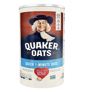 Quaker, Quick 1 Minute Whole Grain Oats