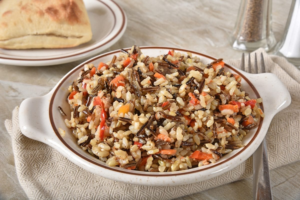flavorful wild rice pilaf