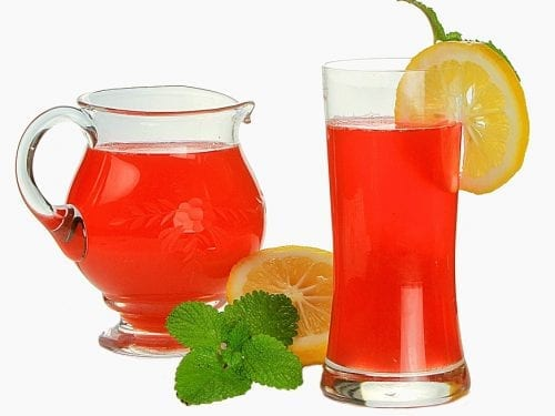rhubarb lemonade punch