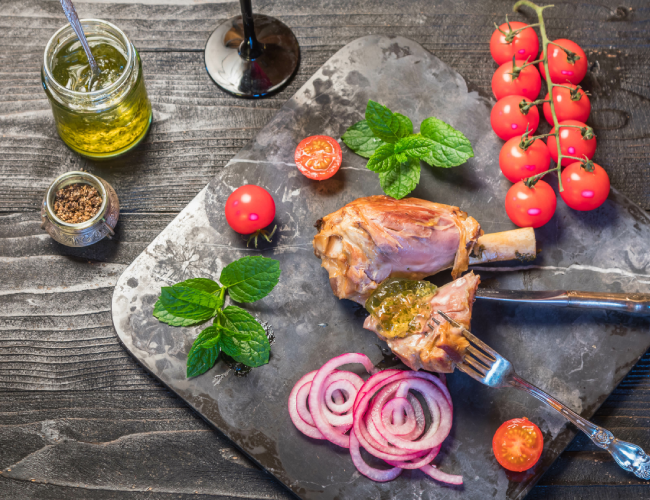Roast Lamb With Mint Jelly Recipe