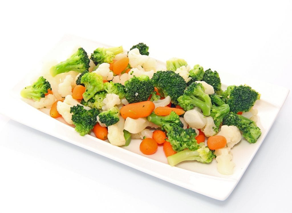 Roasted California Blend Vegetables Recipe, california style vegetables with broccoli, cauliflower, and carrots as a side dish