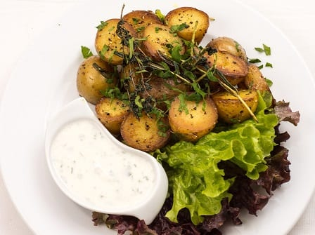 Roasted Potatoes With Fresh Dill And Shallots