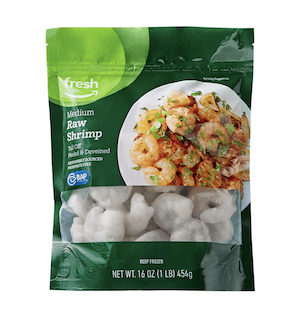Fresh Brand – Raw Medium Peeled & Deveined Tail Off Shrimp