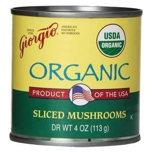 Giorgio Mushrooms, Sliced, Organic